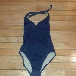 J. Crew 6 Navy Blue Woman's Bathing suit sz. 6 sm